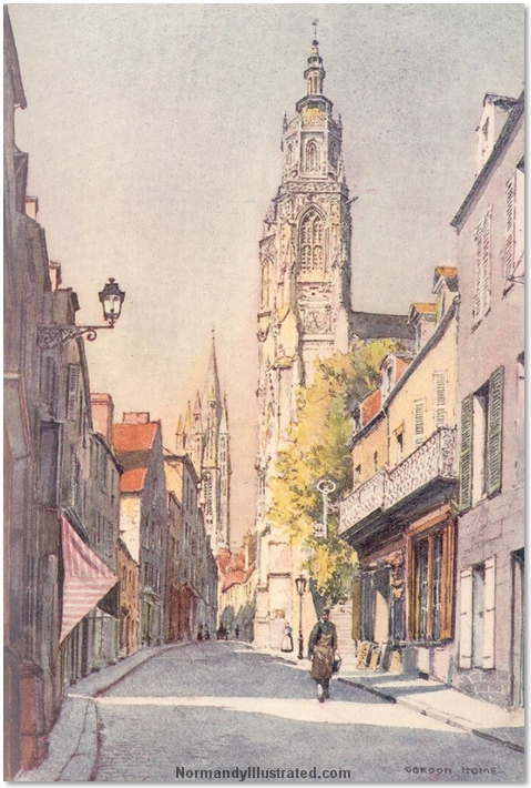 THE LONG MAIN STREET OF COUTANCES